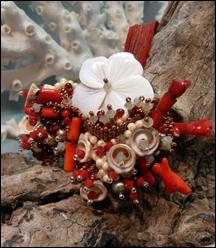 Sea shell bead